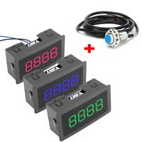 4-Digit LED Digital Counter Meter+Hall Sensor NPN Relay Output Switch DC 5-30V G