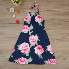 Summer Family Dress Mom&Daughter Floral Women Kids Girl Party Dresses Sundress