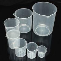 Kitchen Laboratory Plastic Breaker Graduated Volumetric Container Measure Tool