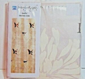 Saturday Knight Fabric Shower Curtain Jardin Beige's / Browns Butterfly's New