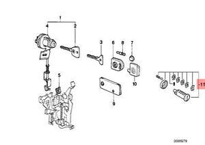 Genuine BMW E23 E24 Door Lock Cylinder Right Repair Kit OEM 51219556326