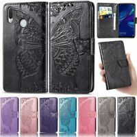 Butterfly Wallet Leather Flip Case Cover For Huawei Y7 2019 Y9 Prime Y5 2019 P30