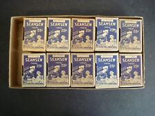 Vintage ~ Seamsew ~ Store Display Box Lot Of 10 Thread Spools Unopened