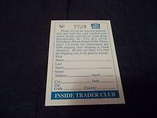 1992 Lime Rock Instant Winner Card for newsletter #7728, 6752