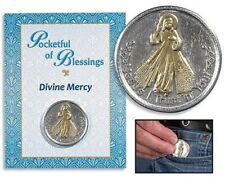 Divine Mercy Jesus Christ I Trust in You Two Tone Gold Silver Tone Pocket Token