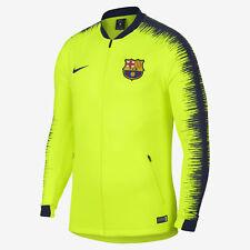 91f87572448 Nike FCB Barcelona Anthem Men s Soccer Jacket Volt 894361 705 Size M NWT