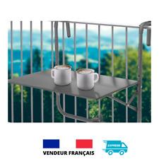Table de balcon suspendue 60x60x64/70cm jusqu'à 20kg réglable en hauteur pliable