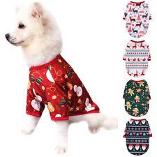 Cute Dog Puppy Christmas Santa Warmer Pullover Coat Clothes Pets Winter Apparel