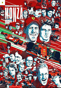 Ferrari F1 Poster Monza Italian Grand Prix GP 2019 Print Silk Home Wall Decor