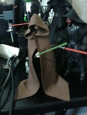 """Star Wars Custom Brown hood Cloak cape Luke Skywalker 6"""" Black Series NO FIGURE"""