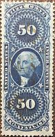 Scott #R54c US 1862 50 Cent Washington Revenue Conveyance Stamp