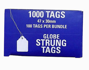 47x30mm Pre-Strung Swing Tags. 71880