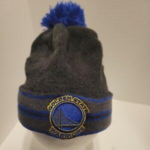 NBA Golden State Warriors New Era Brand Cuffed W/Pom Winter Beanie Hat Cap