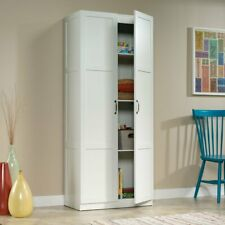 Large Storage Cabinet Sauder Miscellaneous Pantry Kitchen 4 Shelves Cupboard New