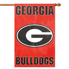 Georgia Bulldogs House Banner Flag PREMIUM Outdoor DOUBLE SIDED Embroidered