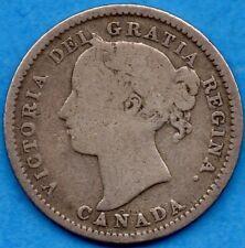 Canada 1898 10 Cents Ten Cent Silver Coin - Very Good