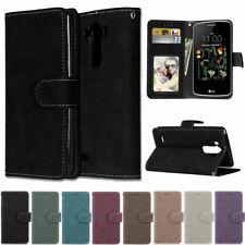 Matte Wallet Leather Flip Case Cover For LG Q70 Q60 V40 V50 K50s G5 G6 G7 G8 K40