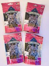 4 Blue Wilderness Soft Moist Cat Treats Chicken & Salmon 2oz Bags Grain Pet Food