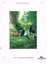 PUBLICITE ADVERTISING 045  1991   LONGCHAMP    sacs & bagages