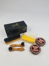 Vintage Kiwi shoe shine compact travel kit horsehair mixture USA