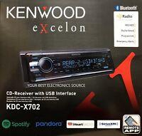 NEW Kenwood KDC-X702 In Dash CD Receiver w/ Bluetooth, HD Radio, Spotify KDCX702