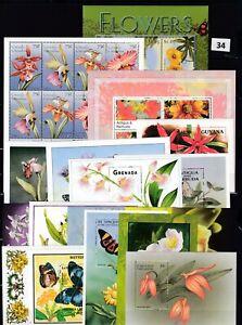 OE 50S/S FLOWERS - MNH - FLORA - ORCHIDS  - FLOWERS - BUTTERFLIES - WHOLESALE