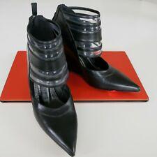 Derek Lam Meryl Black Leather Wedge Ankle Booties US 6. Retail at $850 Gorgeous