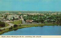 Postcard Aerial View Winter Haven Florida Overlooking Lake Howard