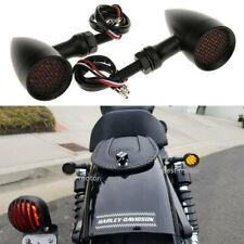 Motorcycle Turn Signal Amber Lights For Harley Sportster 1200 883 Custom Black