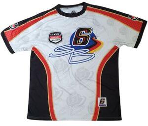 moto gp mens bradl 6 crew neck honda t shirt jersey super bike racing size l