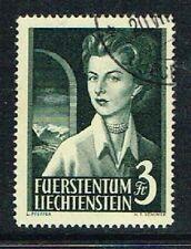 Liechtenstein Michel Nr. 333 Freimarken: Fürstenpaar, 3 Franken gestempelt