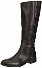 Tommy Hilfiger Womens UK 3.5 Hamilton 11a Black Leather Knee High New Boots