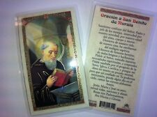 HOLY PRAYER CARDS FOR SAN BENITO IN SPANISH SET OF 2 WITH FREE SHIP IN US!