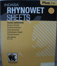 Indasa Rhynowet Plus  9 x11  1000 Grit Wet/Dry Sandpaper 10 Sheets Free Ship