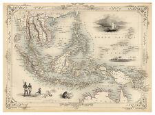 Malay Archipelago Malaysia Indonesia Philippines illustrated map Tallis ca.1851