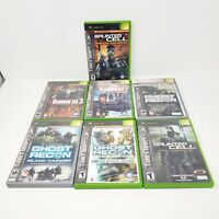 Original Xbox Video Game Lot - Splinter Cell, Ghost Recon, Rainbow Six 3 & More