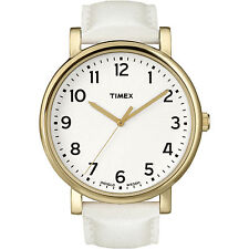 Timex T2P170, Women's White Leather Classic Watch, T2P1709J