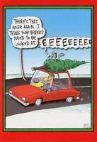 Squealing Brakes Funny  Humorous Nobleworks Christmas Card