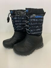 Merrell Snowquest Boots Kids Winter Snow Lined Rubber Boy Sz 12M Black/Grey/Blac