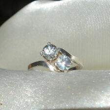 1.40ct Round Brilliant White Zircon Stering Silver Ring