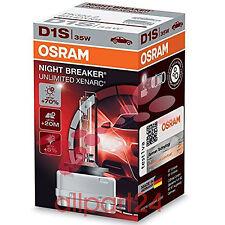 OSRAM XENARC NIGHT BREAKER UNLIMITED D1S XENON Scheinwerferlampe 66140XNB NEU
