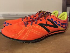 New Balance MD 500 Mid Distance Track & Field Spikes Size 13 Mens Neon Orange
