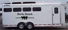 Your Farm Ranch Name Custom Horse Decal Truck Trailer Equestrian Graphic 22x60