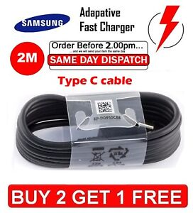 2M Fast Charger USB Data Cable For Samsung Galaxy S8, S9, Plus, Note 8, A8 A5 A7