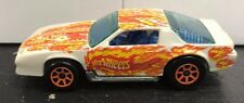 HOT WHEELS Z28 CAMARO 1983 WHITE W/ ORANGE FLAMES ORANGE ULTRA HOTS RIMS RARE