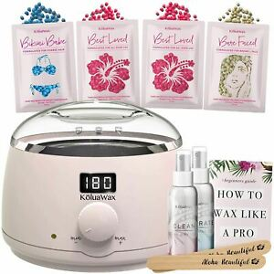 Waxing Kit Digital Wax Warmer Hair Removal with Hard Wax Beans. Kolua Wax Machin