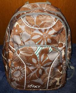 ROXY R Active Rucksack / Backpack / Schultasche mit Blumenmotiv