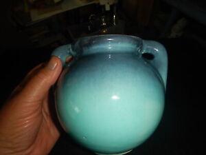Shearwater Pottery Glazed Vase marked handled vase old piece 6 inch
