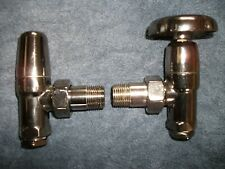 Myson decorative chrome radiator wheel valve with lock shield(one radiator pair)