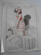 La Vie Parisienne 1918  La Coquetterie est une forme de l'égoisme Vintage Print